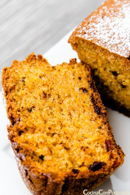 Bizcocho de zanahoria y chocolate facil - Receta Sin Gluten