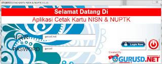 Aplikasi Cetak Kartu NUPTK Terbaru