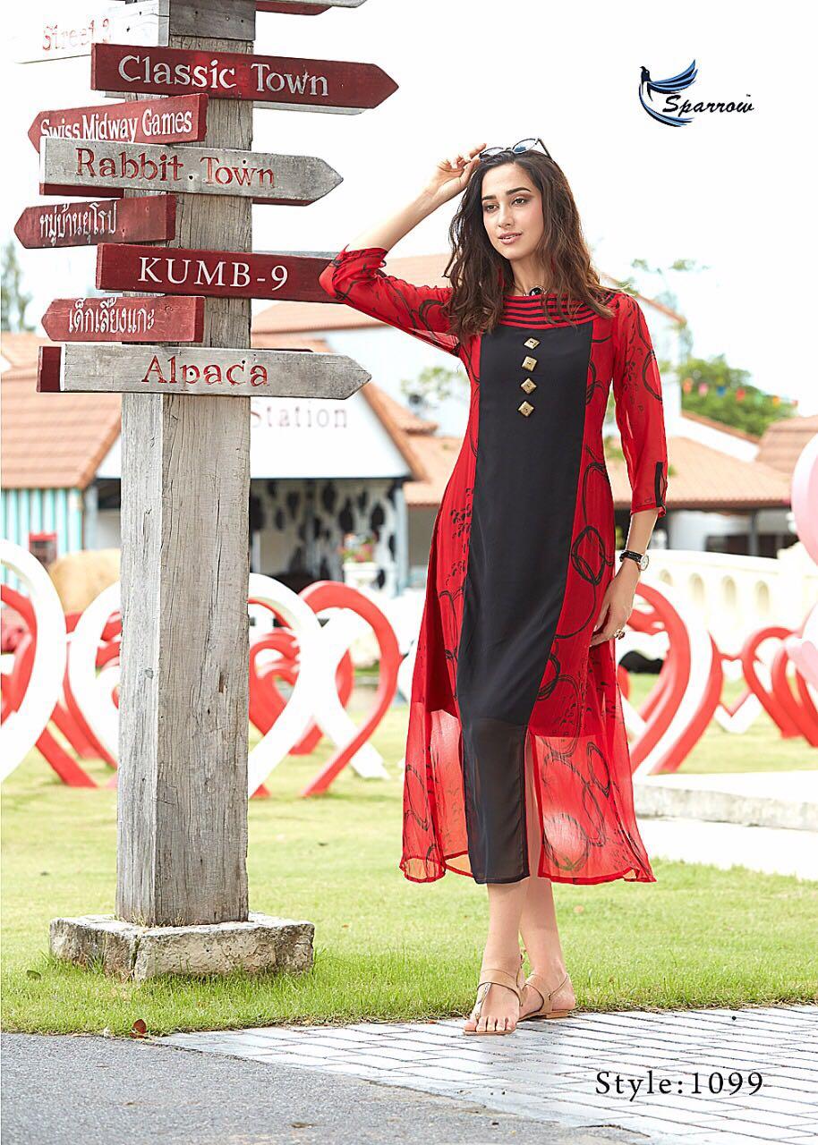 KUMB VOL 9-New Arrival Designer Georgette Kurti