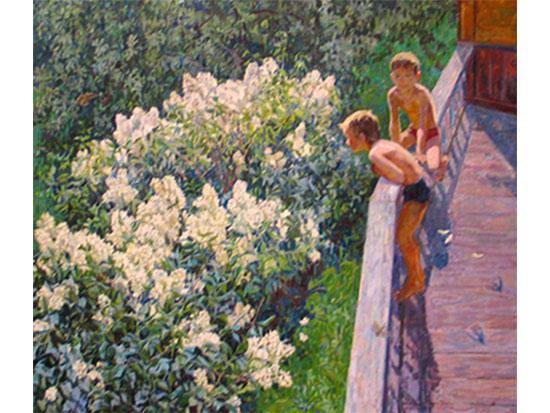 Картина «Летний день. Цветёт сирень»