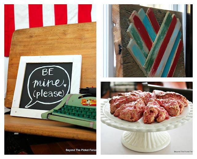 DIY sign and wood shim heart, recipes