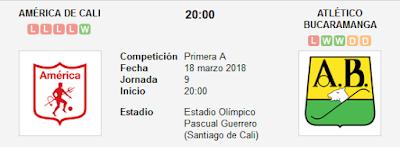 América de Cali vs Atlético Bucaramanga en VIVO