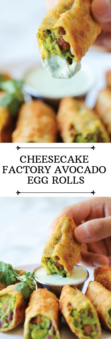 CHEESECAKE FACTORY AVOCADO EGG ROLLS #dinnerrecipe #food