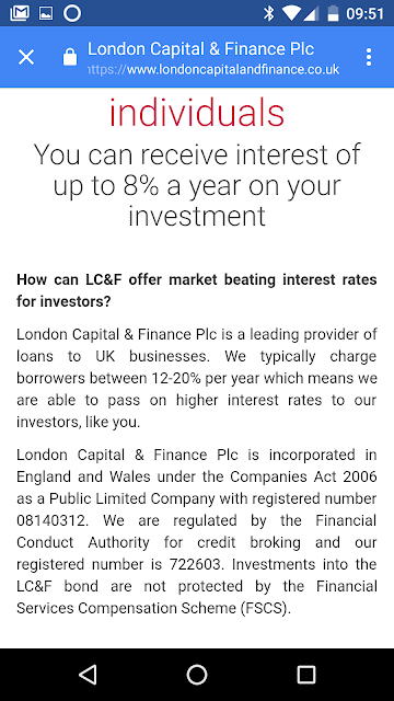 London Capital Finance - FCA investigation