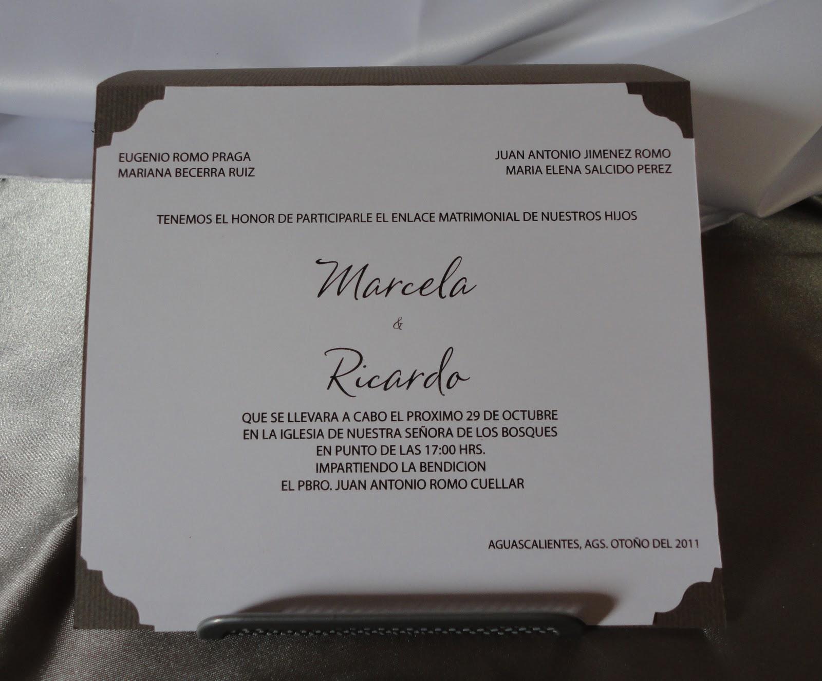 Invitaciones Y Cajitas Para Eventos Sociales 2011