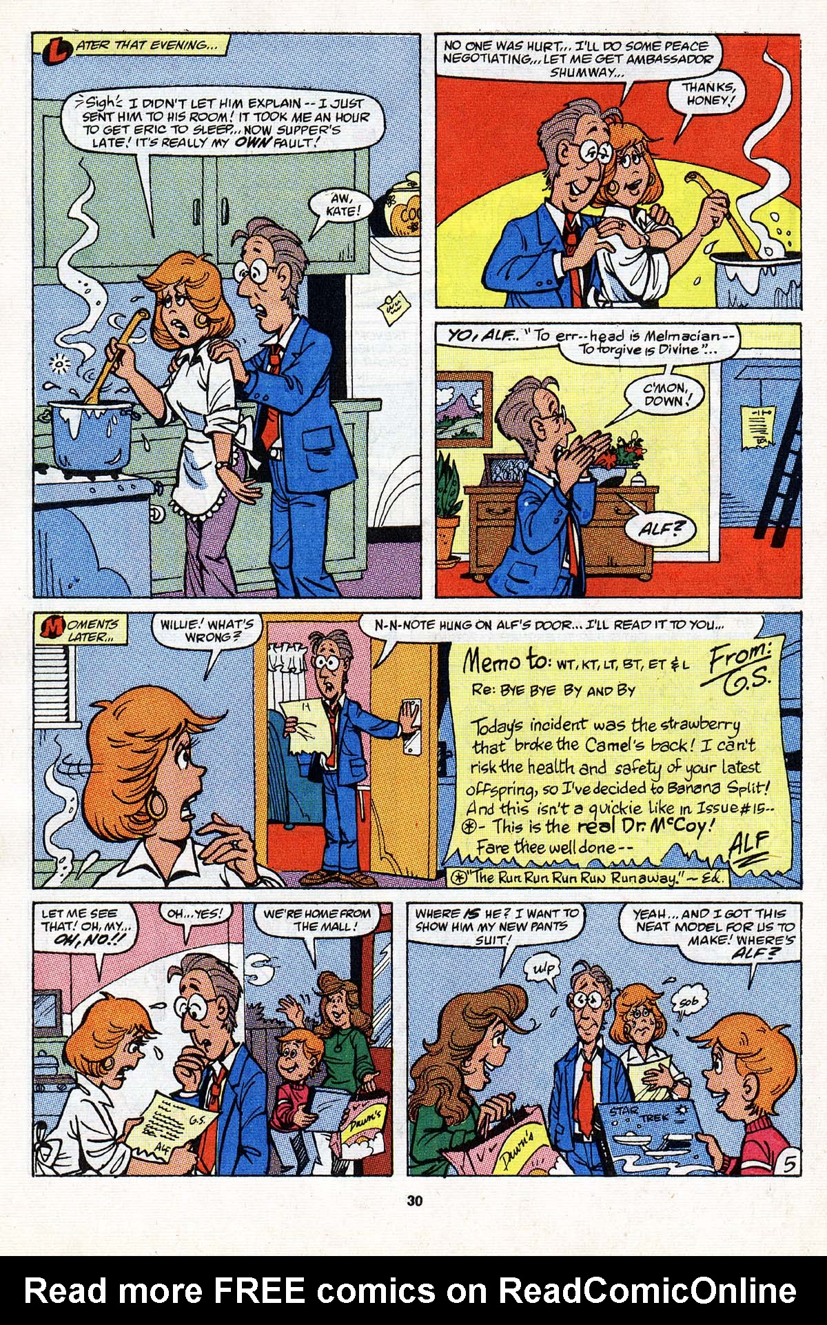 Read online ALF comic -  Issue #20 - 22