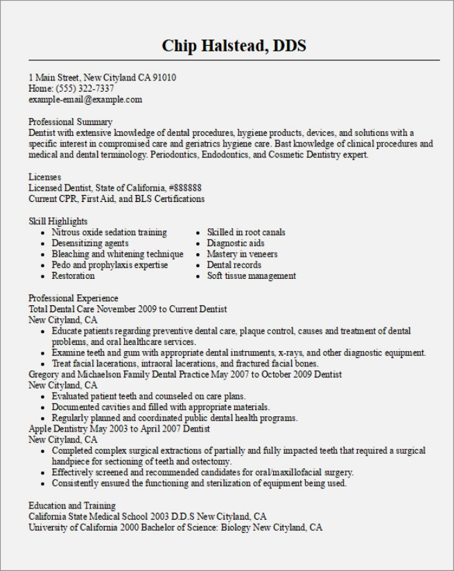 doctor resume example dentistresumetemplate doctor resume templates
