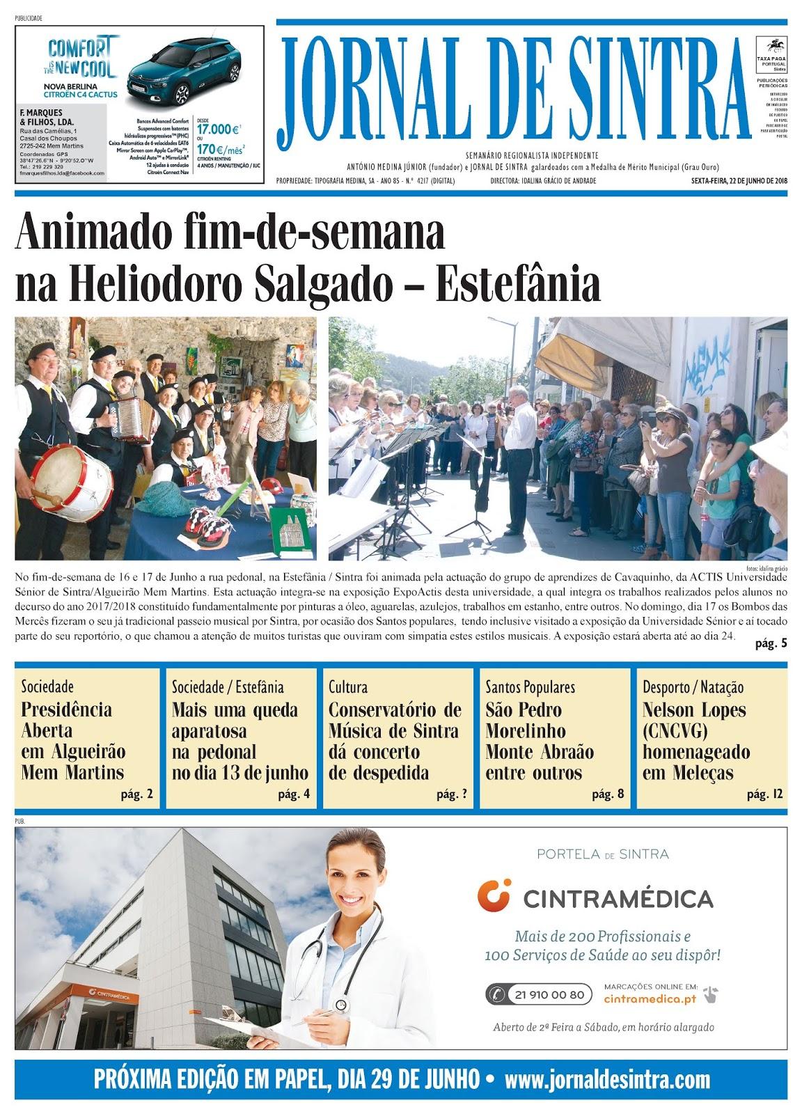 Capa da edição de 22-06-2018