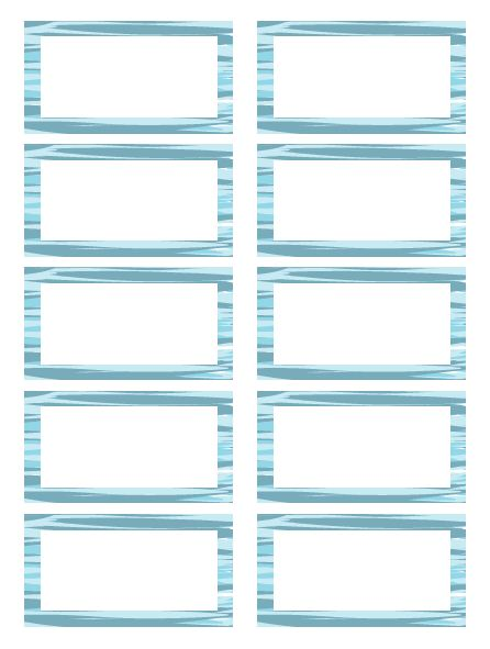 Blue Watercolor Labels Free Printable