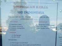 Lowongan kerja Padang MG INDONESIA