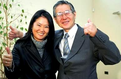 Foto de Keiko Fujimori con su padre Alberto Fujimori