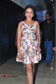 Actress Madhu Shalini Stills in Floral Short Dress at RGV Shiva to Vangaveeti Event  0069.JPG