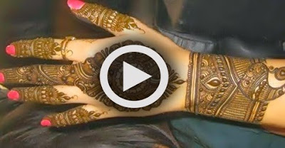 Lastest Mehandi designs for Bridal
