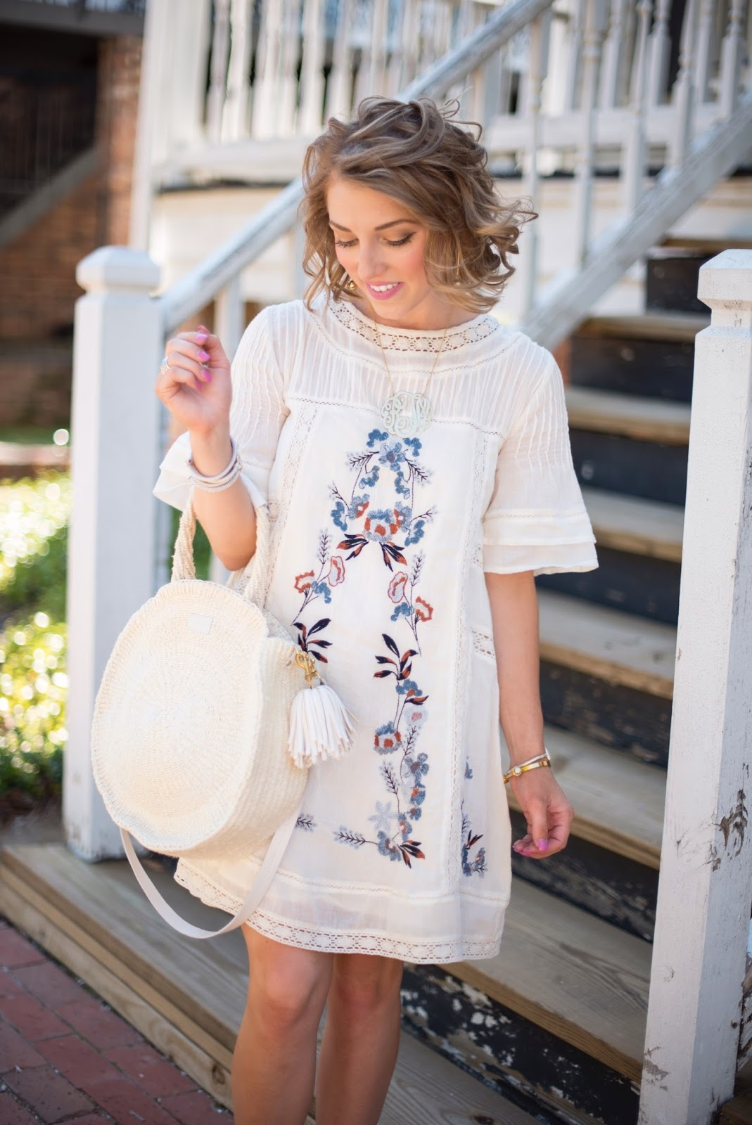 Free People Perfectly Victorian Embroidered Mini Dress - Click through to see more on Something Delightful Blog