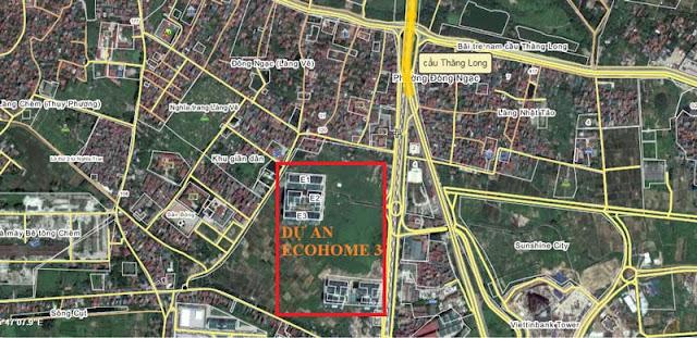Vị trí chung cư Ecohome 3