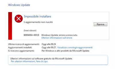 soluzione windows update