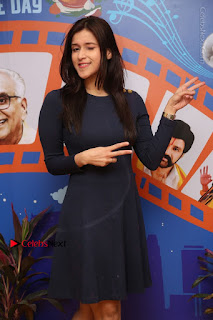 Actress Mannara Chopra Stills in Blue Short Dress at Rogue Song Launch at Radio City 91.1 FM  0018.jpg