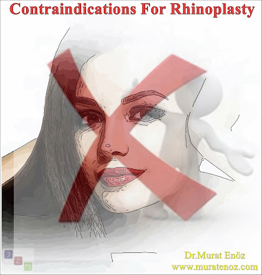 Rhinoplasty contraindications - Contraindications for nose job surgery - Contraindications of rhinoplasty operation - Contraindications of nasal aesthetic operations - Who should not have rhinoplasty? - Situations where nose aesthetics are inconvenient - Contraindications to rhinoplasty