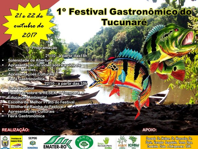 1° Festival Gastronômico do Tucunaré acontecerá na Resex do Rio Ouro Preto em Guajará-Mirim