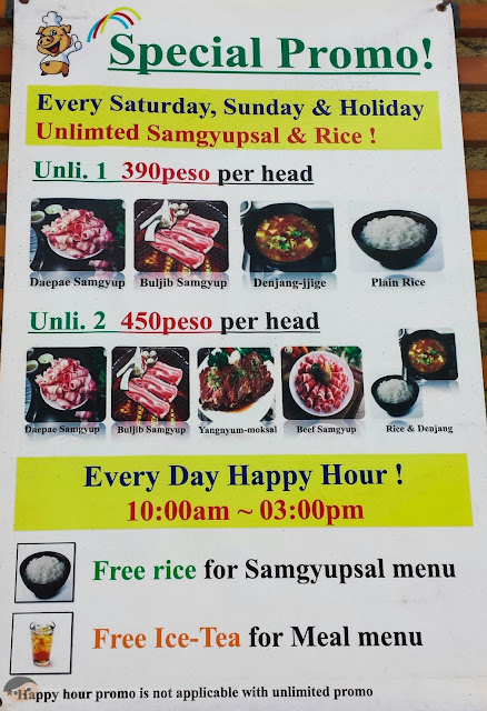 Unlimited Korean Beef and Pork in Samgyupsalamat
