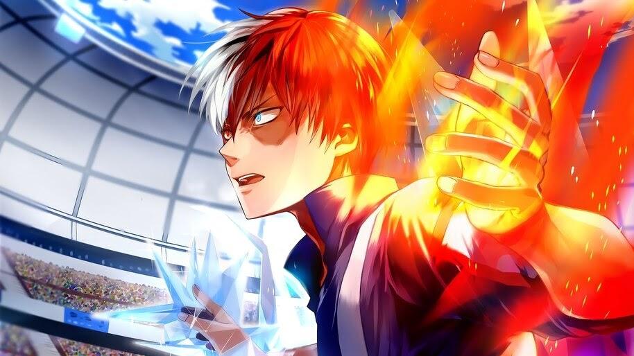Shoto Todoroki Fire And Ice 4k Wallpaper 5 382