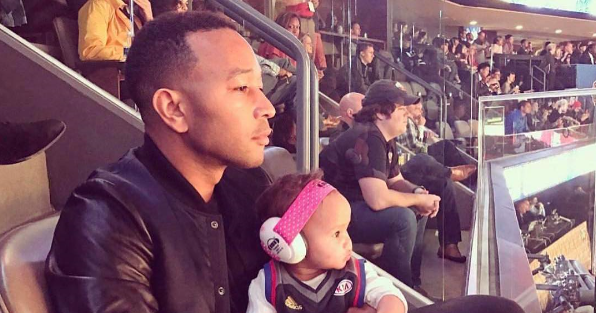 AFROBEATZMUSIC.COM: John Legend and baby Luna at the AllStar Game