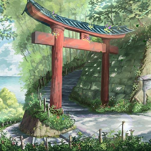 Japanese Forest Shrine Wallpaper Engine