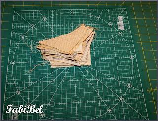 Patchwork Découpe des pièces de tissu