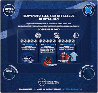 Logo Kick Off League : vinci gratis con Nivea Men