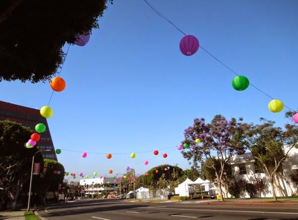 2014 LGTB Pride paper lantern decorations West Hollywood