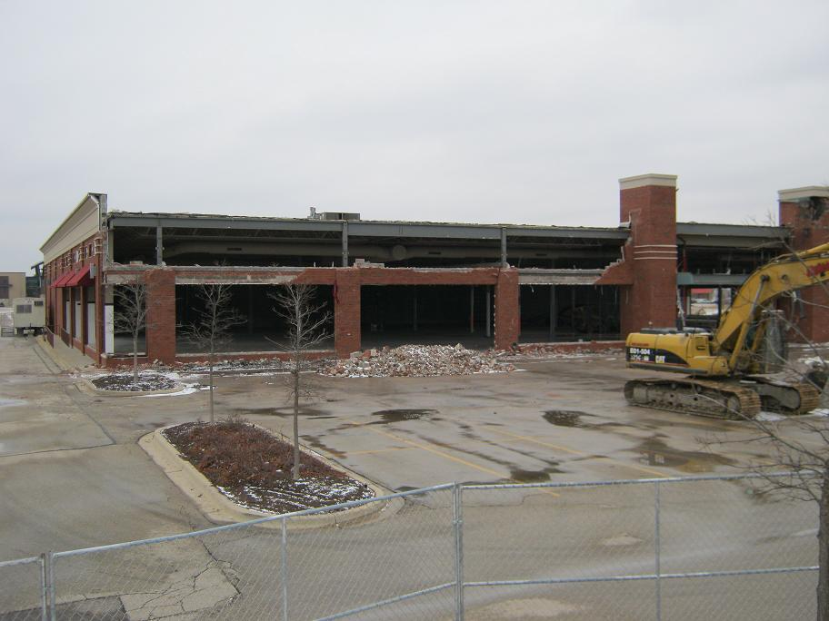Demolition Of Portion Of Old Wickes Furniture.