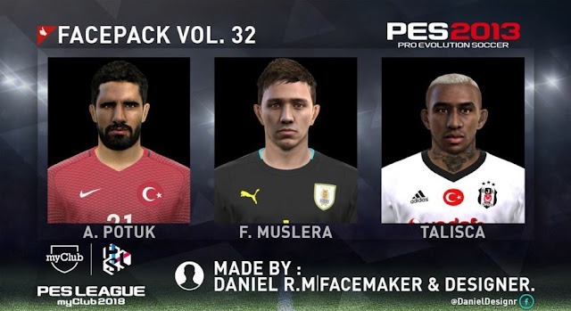 New Facepack Vol. 32 PES 2013