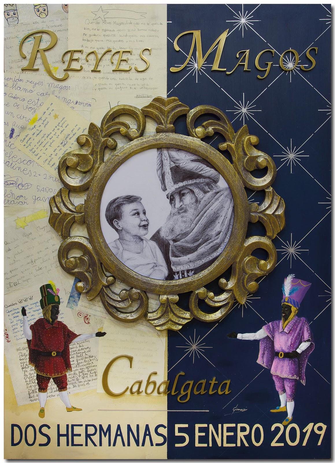 Cartel Cabalgata 2019, autor: Diego Gómez Sánchez