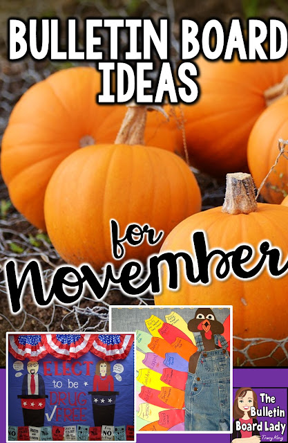 November bulletin board ideas that you can DIY or download and post. Colorful, thankful, brilliant ideas for your classroom.