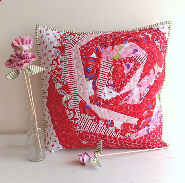 abstract rose pillow