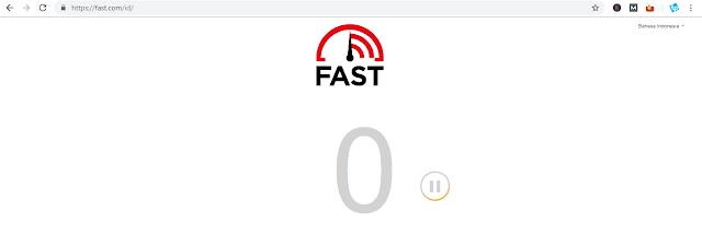fast.com - Cara Mengecek Kecepatan Internet di PC atau laptop