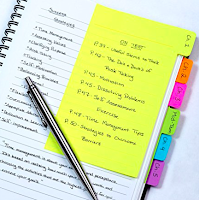 Tabbed Sticky Notes - Must have law school supplies | brazenandbrunette.com