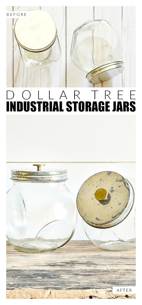 How to make industrial dollar tree storage jars