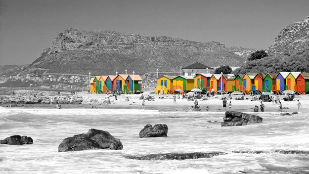 Cape town tourist places black and white photography