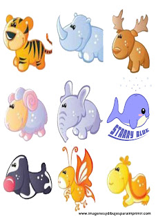 Stickers animalitos para imprimir