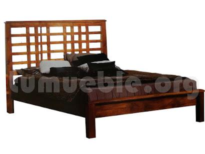 cama madera teca 4185