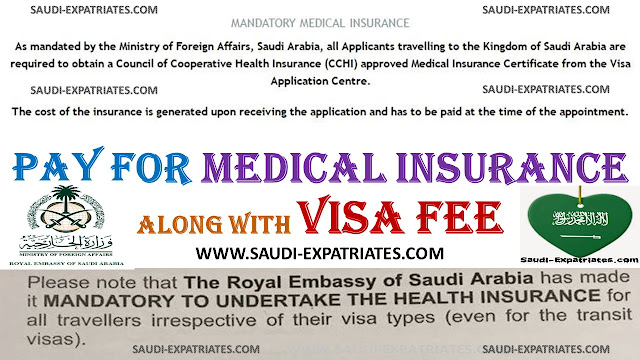 PAY FOR MANDATORY MEDICAL INSURANCE WITH VISA FEE