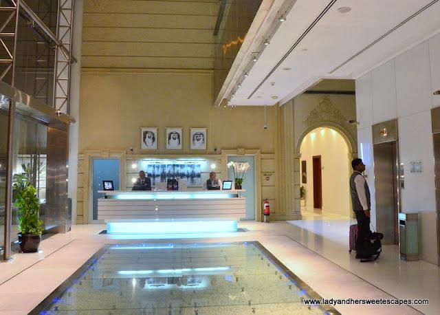 Villa Rotana's sleek lobby