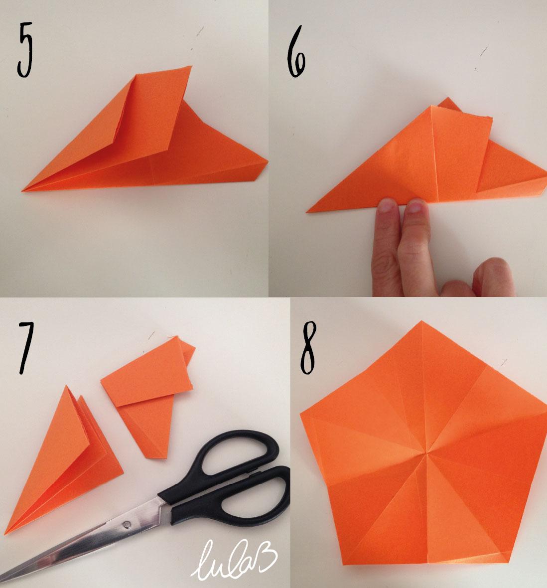 Diy 12 Estrella De Origami De 5 Puntas Diseño Gráfico Lulab