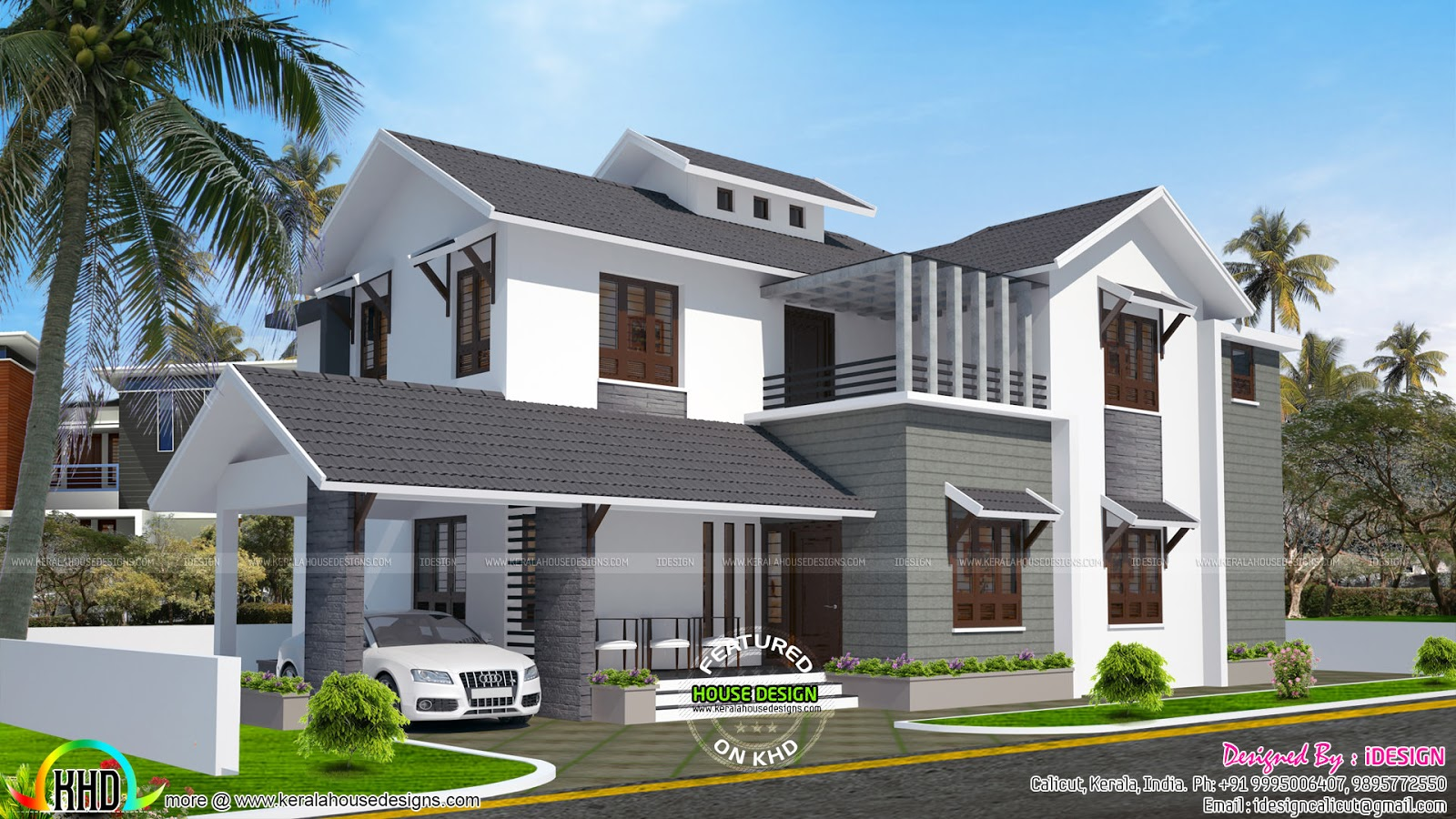 18 Lakh Cost Estimated Remodeling Home Plan Kerala Home