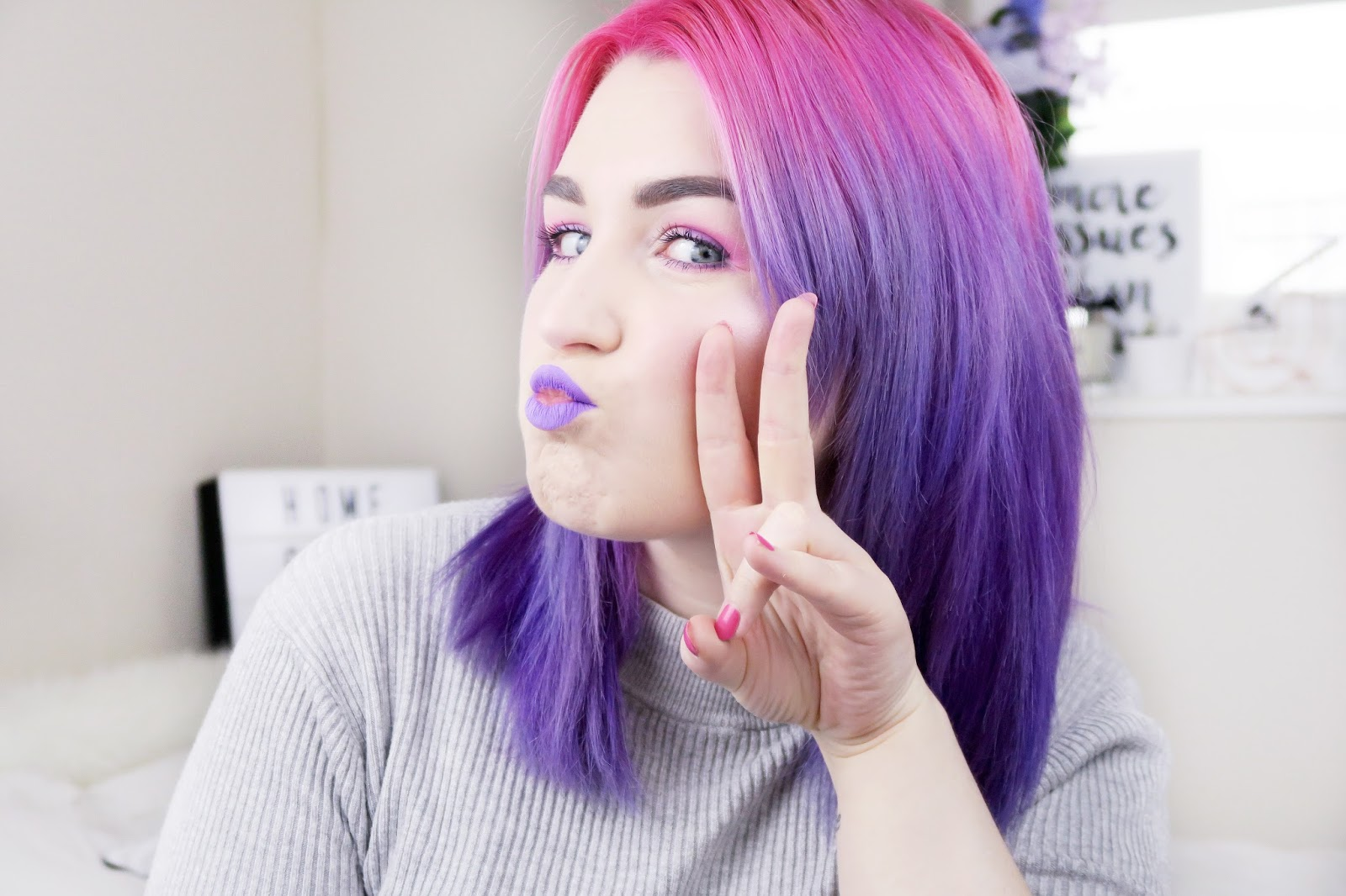 an image of pink and purple hair