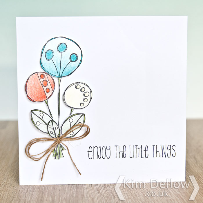 Clean and simple card design by Kim Dellow