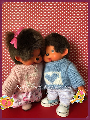 kiki monchhichi saint valentin cute mignon toys life tricot poupée knitting