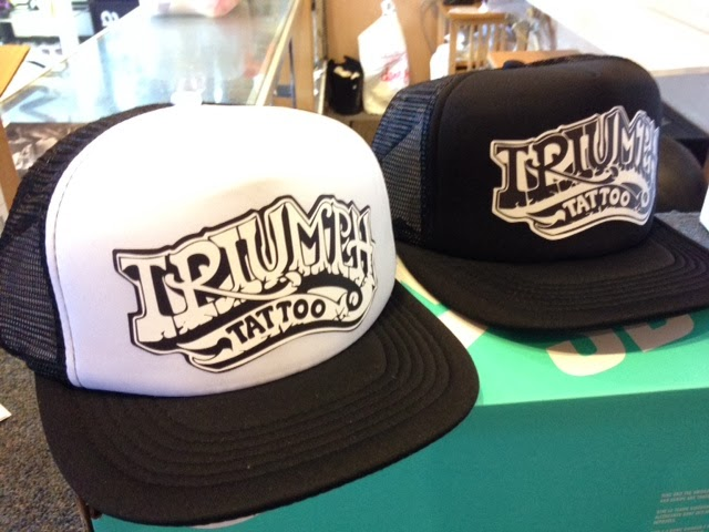 TRIUMPH TATTOO  New trucker hats now available! 814775fa874