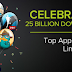 Android Celebration 25 Billion Giveaway 25 Cents for Android fans!